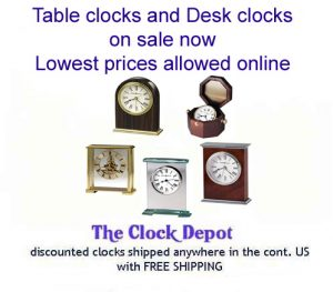 Desk Clocks for Sale